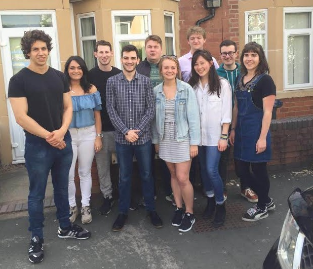 Benji Fisher, entrepreneur and political activist, with the Just Debate team
