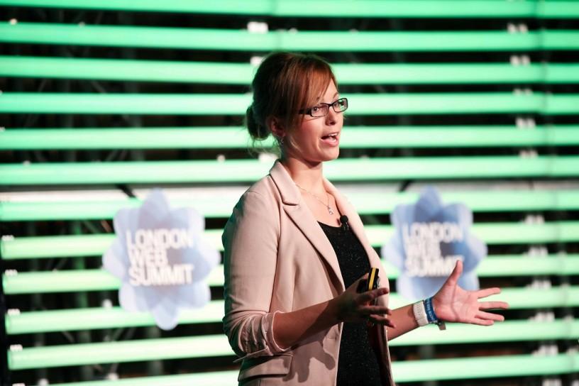 Woman Giving Presentation at London Web Summit 2012