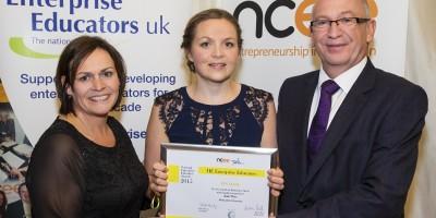 katie wray at national enterprise educator awards 2015