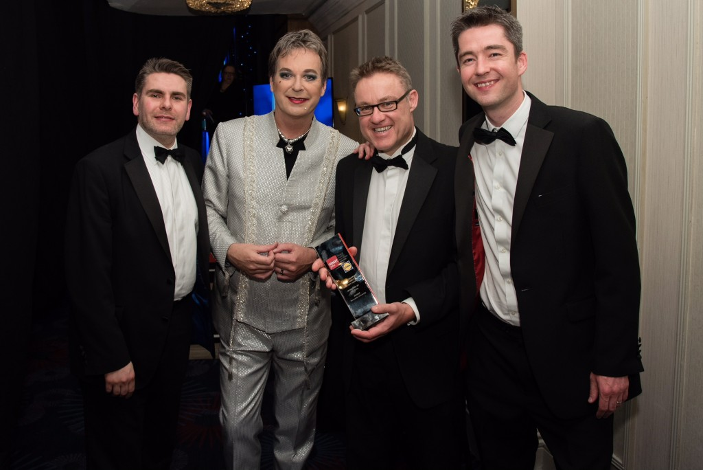 Gareth Trainer and colleagues collect TARGETjobs Award for the Best Employability Strategy 2017